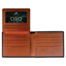 Oro Men's Left Wing Wallet in Fine Italian Leather