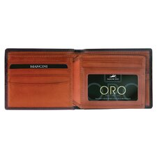 Oro Men's Center Wing Wallet in Fine Italian Leather