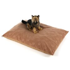 Quiet Time e'Sensuals Paw Print and Bone Design Rectangle Dog Pillow