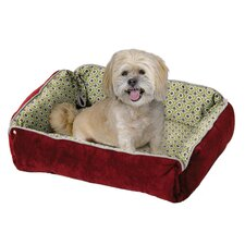 <strong>Midwest Homes For Pets</strong> Quiet Time Fur and Designer Print Boutique Reversible Snap Bolster Dog Bed