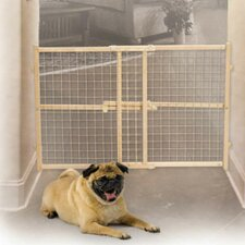 Wire Mesh Wood Pet Gate