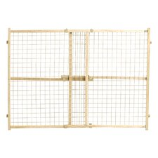 Wood Wire Mesh Pet Gate