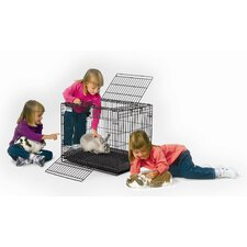 Wabbitat Wire Rabbit Cage in Black