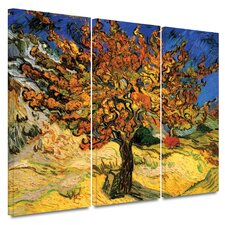 3 Piece 'Mulberry Tree' Gallery-Wrapped Canvas Art by Vincent van Gogh