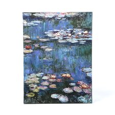 ''Water Lillies'' by Claude Monet Painting Print Canvas