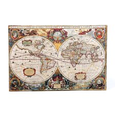 Antique ''Hydrographical Map'' Graphic Art on Canvas