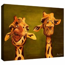 'Giraffe Buddies' by Lindsey Janich Gallery Wrapped on Canvas