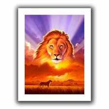 'The Lion King' by Jerry Lofaro Canvas Poster