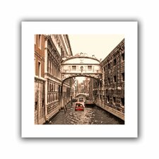 'Venice Bridge of Signs' by Linda Parker Canvas Poster