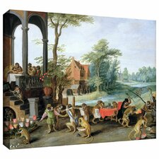 'A Satire of the Folly of Tulip Mania' by Pieter Bruegel Gallery Wrapped on Canvas