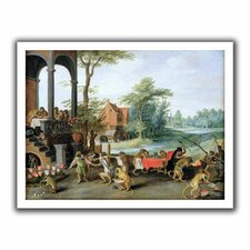 'A Satire of the Folly of Tulip Mania' by Pieter Bruegel Unwrapped on Canvas