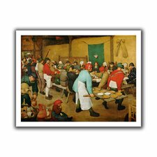 'Peasant Wedding' by Pieter Bruegel Canvas Poster