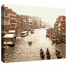 '3 Gondolas - Venice' by Linda Parker Gallery Wrapped on Canvas