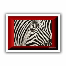 'Zebras Abstract' by Lindsey Janich Unwrapped on Canvas