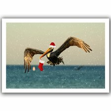 'Christmas Pelican1' by Lindsey Janich Canvas Poster