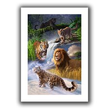 'Big Cats' by Jerry Lofaro Canvas Poster