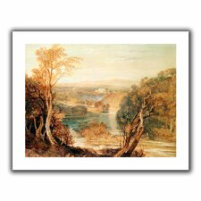 'The River Wharfe with a Distant View of Barden Tower' by William Turner Unwrapped on Canvas