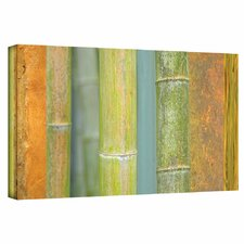 'Bamboo Green Orange' by Cora Niele Gallery Wrapped on Canvas