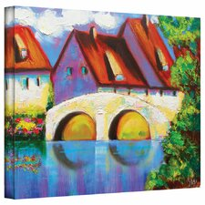 'German Village on Rhine' by Susi Franco Gallery Wrapped on Canvas