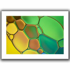 'Stained Glass III' by Cora Niele Canvas Poster
