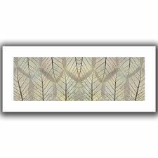 'Leaf Design' by Cora Niele Canvas Poster in Cream'