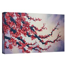 'Red Cherry Blossom' by Shiela Gosselin Gallery-Wrapped on Canvas