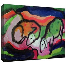 'Sheep' by Franz Marc Gallery Wrapped on Canvas