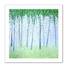 Unwrapped 'Misty Woodlands' by Herb Dickinson Painting Print on Canvas