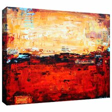'Abstract Warm' by Jolina Anthony Painting Print Gallery-Wrapped on Canvas