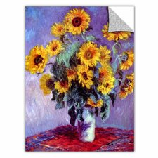ArtApeelz 'Sunflowers' by Claude Monet Graphic Art