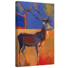 'The Red Tree' by Mark Adlington Painting Print Gallery-Wrapped on Canvas Set
