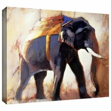 'Shivaji' by Mark Adlington Print of Painting Gallery-Wrapped on Canvas