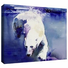 'Underwater Bear' by Mark Adlington Painting Print Gallery-Wrapped on Canvas