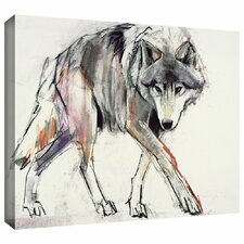 'Wolf' by Mark Adlington Print of Painting Gallery-Wrapped on Canvas
