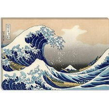 ''The Great Wave of Kanagawa'' by Katsushika Hokusai Painting Print on Canvas