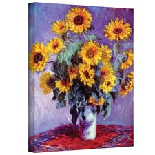 'Sunflowers'' by Claude Monet Original Painting Canvas