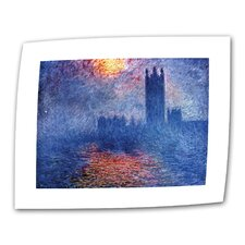 """Houses of Parliament"" by Claude Monet Original Painting on Canvas"