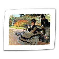 """Park Bench"" by Claude Monet Painting Print on Canvas"