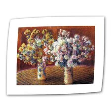 """""""Two Vases"""" by Claude Monet Painting Print on Canvas"""