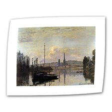 """Dock"" by Claude Monet Painting Print on Canvas"