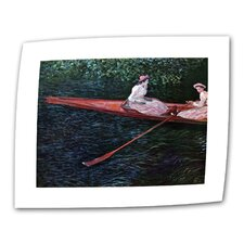 """Canoe"" by Claude Monet Painting Print on Canvas"