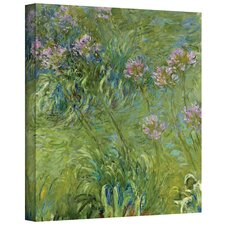 ''Agapanthus 2'' by Claude Monet Original Painting on Canvas