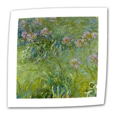 """Agapanthus 2"" by Claude Monet Painting Print on Canvas"