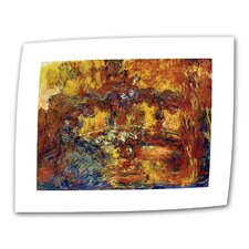 "Claude Monet ""Japanese Footbridge"" Canvas Wall Art"