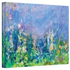 """Lavender Fields"" by Claude Monet Painting Print on Canvas"