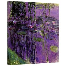 """""""Lavender Water Lillies"""" by Claude Monet Painting Print  on Canvas"""