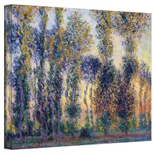 ''Poplars at Giverny at Sunrise'' by Claude Monet Painting Print on Canvas