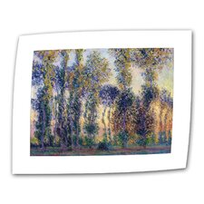"""Poplars at Giverny"" by Claude Monet Original Painting on Canvas"