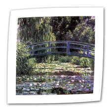 """Bridge at Sea Rose Pond"" by Claude Monet Painting Print on Canvas"