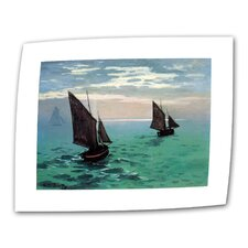 """Two Sailboats"" by Claude Monet Prints Painting on Canvas"